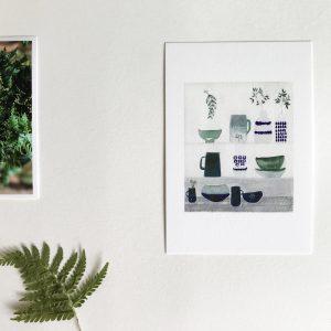 carte postale, papeterie, gris de toile, déco, charlou, concept store